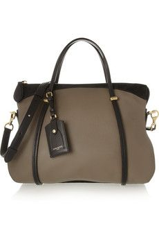 Nina Ricci Ballet suede and leather shoulder bag | NET-A-PORTER