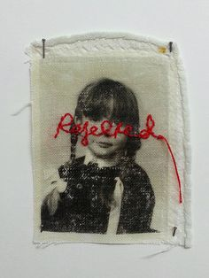 Jayne McConnell dissociation 'Dissociation' explores the themes of identify and loss of childhood. Photo images have been transferred onto household cloth, altered with hand embroidery and transformed into a hand sewn fabric book. Textiles, Banksy, Art Brut, Altered Images, A Level Art, Feminist Art, Gcse Art, Art Sketchbook, Mixed Media Art