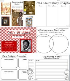 FREE mini-unit on Ruby Bridges - perfect compliment to a study of the Civil Rights Movement