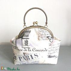 Párizs, Eiffel torony mintás táska, kézitáska, pasztell színben - Bonjour Paris (Mesedoboz) - Meska.hu