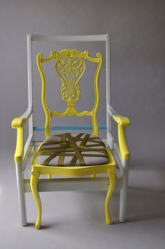 Chair using discarded frames by karen ryan