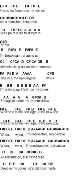Flute Sheet Music radioactive 2