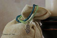 2 strand layering chakra layering bracelet by MomentsofChaos