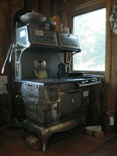 . . . cookin' on a woodstove . . .