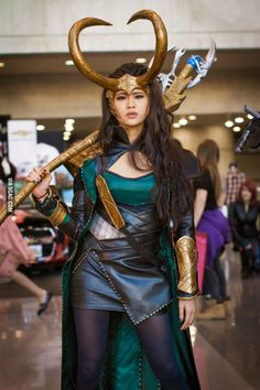 Lady Loki by Marcy Lee Lady Loki Cosplay, Epic Cosplay, Marvel Cosplay, Amazing Cosplay, Cosplay Outfits, Cosplay Girls, Cosplay Style, Marvel Costumes, Loki Halloween Costume