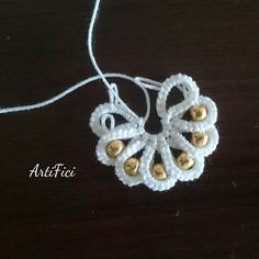 to give an overlay effect. Tatting Bracelet, Tatting Earrings, Tatting Jewelry, Crochet Earrings, Needle Tatting, Tatting Lace, Irish Crochet, Crochet Lace, Learning To Embroider