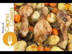 Muslos de pollo al horno | Recetas de Cocina Casera - Recetas fáciles y sencillas