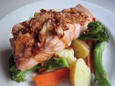 Simple Steamed Salmon   A girl, a guy, furkids and food.