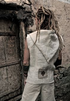 Hemp Men Vest With Hoodie by PrimitiveTribalCraft on Etsy