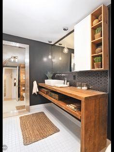 Une salle de bain rustique chic | Salles de Bain Maison ...