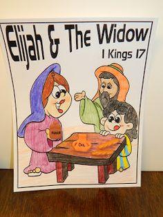 Hands On Bible Teacher: Elijah & The Widow of Zarephath Sunday School Kids, Kids Class, Sunday School Lessons, Sunday School Crafts, Lessons For Kids, Bible Lessons, Bible Story Crafts, Bible Crafts For Kids, Preschool Bible