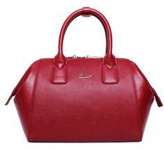 62e39046d3 CLUCI Women s Cow Leather Shoulder Bag Handbag Laptop Bag Wine Red  http   www