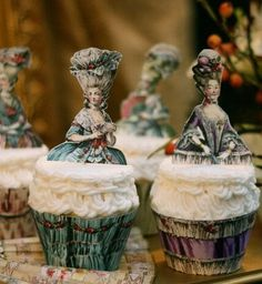 Marie Antoinette Cupcake Wrappers and Toppers.