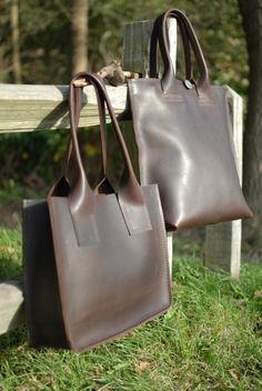 Heavy Leather Shoppers  Charezza Leather