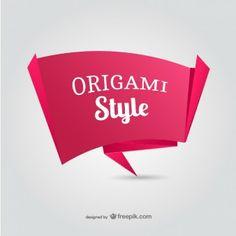 Paper origami banner vector ::  Freepik.com