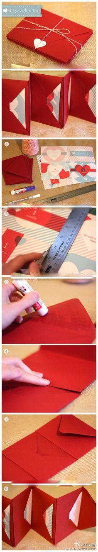 So Sweet ::: DIY Folding Accordion Envelope Keepsake.
