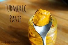 Turmeric paste - base for golden milk when fresh turmeric root is not available.
