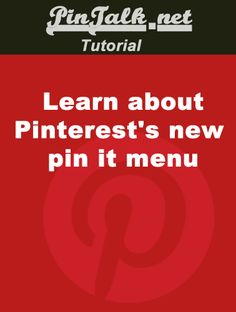 Pinterest's new pin it menu  Did you have a new Pinterest pin it menu today? Pinterest Tutorial, Pinterest Pin, Computer Help, New Pins, Pinterest Marketing, Helpful Hints, Fun Facts, Organize, Blogging