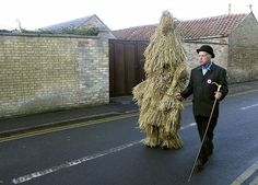 "After twelfth night in times past, it was the custom to dress one of the ploughmen in straw and call him a ""straw bear""."