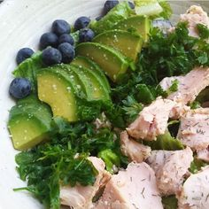 """""""Food is not just fuel: it's for enjoying with all our senses."""" Great quote (and salad), @janalovestastyfood!"""