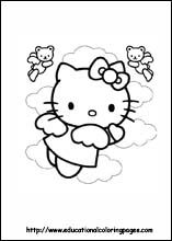 Free Printable Coloring Pages  Hello Kitty Coloring Sheets