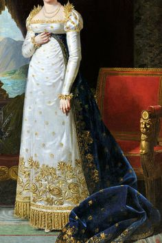 "warpaintpeggy: "" INCREDIBLE DRESSES IN ART (133/∞) Portrait of Letizia Bonaparte by Robert Lefevre, 1813 """