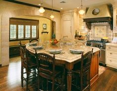 Two Sided Seating Nathan Hale Kitchen Pinterest