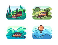 Yegor Shustov on Behance Country Flags Icons, Logo Ig, City Drawing, Visual Communication Design, City Icon, Flag Icon, Insta Icon, Travel Icon, Line Illustration