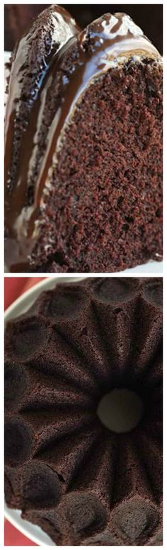 Chocolate Mayonnaise Bundt Cake ~ It has a rich, chocolate flavor and lightly, airy texture that will make you go back for seconds!