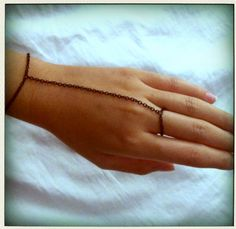 black chain maille bracelet ring