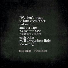 Beau Taplin || Without intent