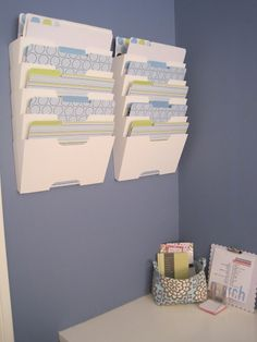 my next office project - filing system using ikea kvissle