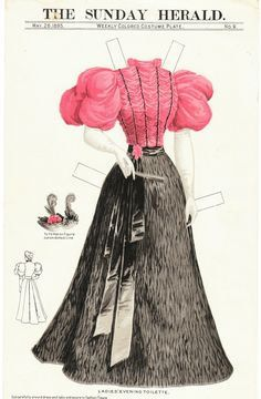 Antique paper dolls and paper toys to make - Joyce hamillrawcliffe - Picasa Web Albums Victorian Paper Dolls, Vintage Paper Dolls, Historical Costume, Historical Clothing, Paper Toys, Paper Crafts, Illustration Mode, Paper People, Paper Fashion