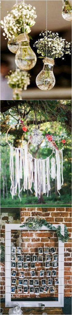 boho themed chic wedding decorations