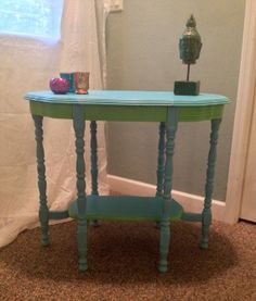 Shabby Chic Antique Table or Tv Stand by BohoBeachBliss on Etsy, $75.00