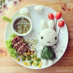 Samantha Lee Bunny #foodart #food #art