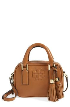 Tassels are always a good idea! Crushing on this tan Tory Burch satchel.