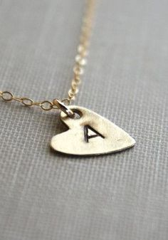 Initial Necklace Personalized Letter Necklace Gold