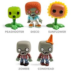 Geeky Plants Vs. Zombies Figurines