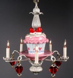 I found this great cupcake chandelier!