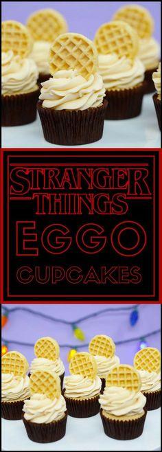 Stranger Things Eggo Cupcakes w/Maple Frosting Recipe