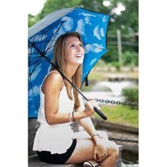 Lotus Frame Umbrella Pattern: Sky Inside Elite Rain. $24.00. Save 47% Off!