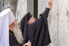 Nicholas Ground Blessing, October Metropolitan Joseph of the Antiochian Archdiocese and Metropolitan Tikhon of the Orthodox Church in America sign the wall of St. America Sign, Blessing, Joseph, October, Wall, Fashion, Fashion Styles, Fashion Illustrations, Trendy Fashion