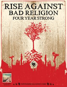 rise against, bad religion, four year strong... oh hey! i was at this show!