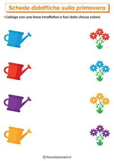 Shape Worksheets For Preschool, Shapes Worksheet Kindergarten, English Worksheets For Kids, Preschool Learning Activities, Free Preschool, Spring Activities, Prewriting Skills, Fruit Coloring Pages, Teacher Cartoon