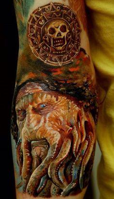 Pirates of the Caribbean Tribute Full Sleeve Tattoo ...XoXo