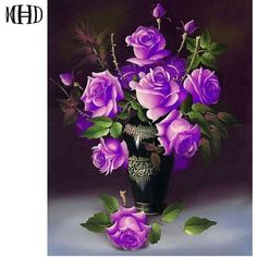 Cheap diamond painting, Buy Quality crystal diamond painting directly from China 5d diy Suppliers: MHD Full Square & Round 3D Diamond Embroidery Flower Vase 5D DIY Diamond Cross Stitch Crystal Diamond Painting Purple Rose Enjoy ✓Free Shipping Worldwide! ✓Limited Time Sale ✓Easy Return.