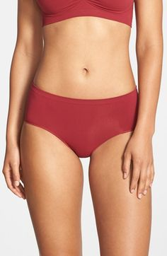 Women's Nordstrom Seamless Hipster Briefs, Size X-Large - Red | 32.0% de réduction