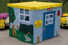 Card Table Playhouse Animal Sanctuary, Felt Fabric Playhouse, Custom Order, Personalized,