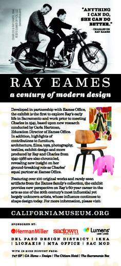 Ray Eames: A Century of Modern Design 2013 exhibition #Eames @hermanmiller @vitra